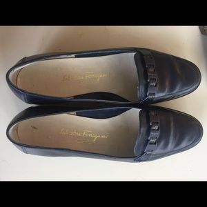 Salvatore Ferragamo dark blue loafers